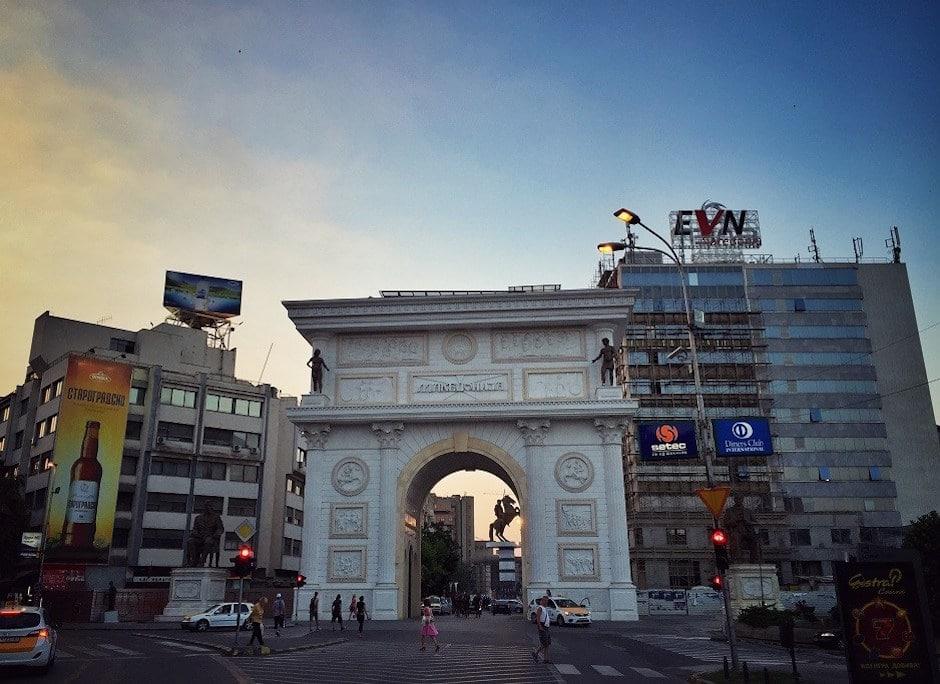 Skopje Triumphbogen