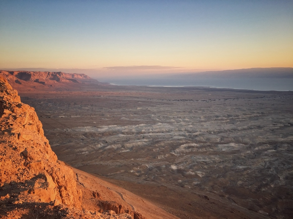 Israel im Winter Masada