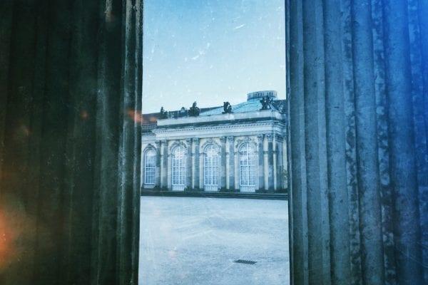 Potsdam im Winter Schlosspark Sanssouci