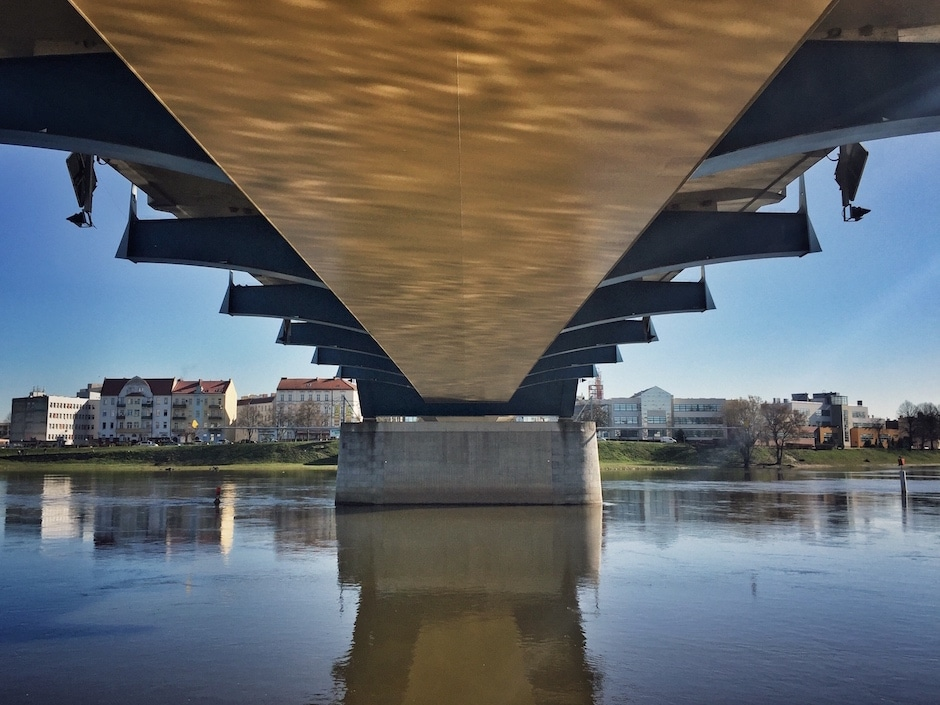 Stadtbrücke von Frankfurt nach Słubice